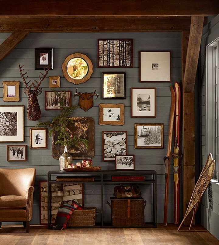 gallery wall ideas photos on canvas photos on wood, home decor, wall decor