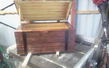 wooden box made out of scrap wood