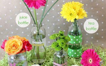 Repurposing Glass Food Jars as Decorative Vases