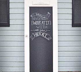 old door to chalkboard door chalkboard paint crafts doors & Old Door to Chalkboard Door | Hometalk