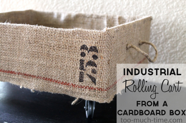 cardboard box into an industrial crate, crafts, repurposing upcycling