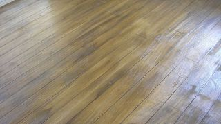 q can you have a concrete floor that looks like hardwood, concrete masonry, flooring, hardwood floors, home decor, mahogany grained overlay