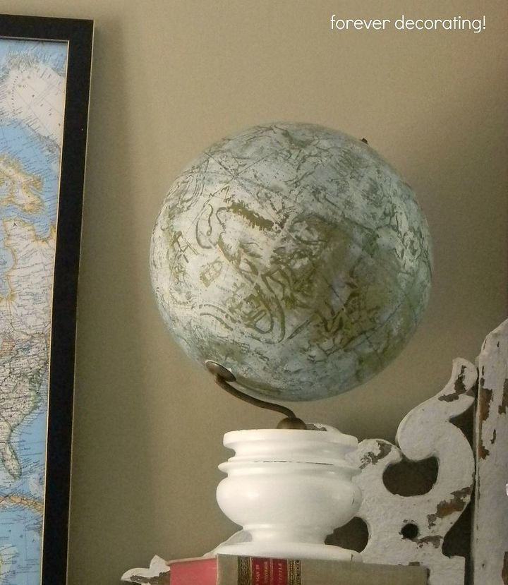 This vintage  globe has some cool graphics.