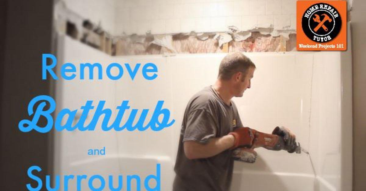 How to Remove a Fiberglass Bathtub and Surround in 60 Minutes | Hometalk