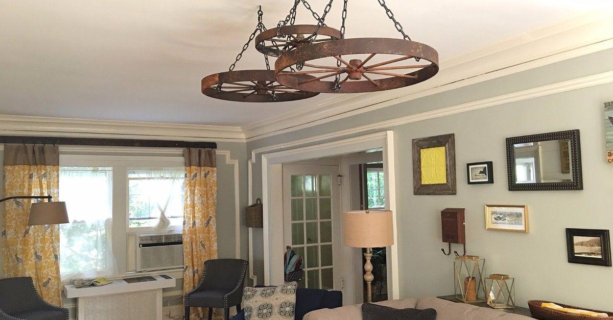 Wagon Wheel Ceiling Decor Hometalk