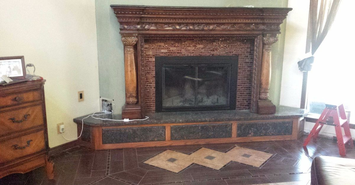 Revamp An Ugly Brick Fireplace Without Painting It