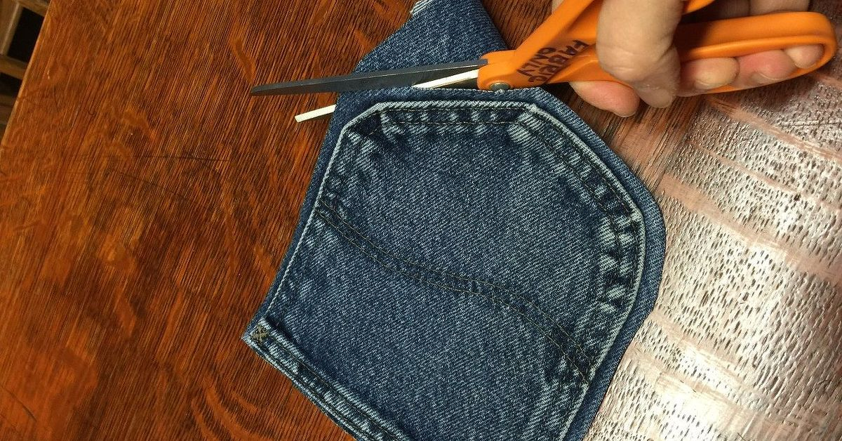 Cut The Pockets Off Your Old Jeans To Create These
