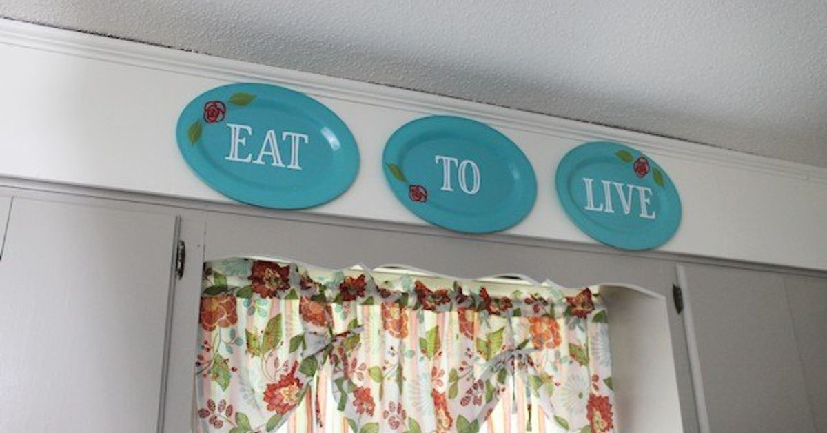 how to adress a letter kitchen wall decor from plastic plates hometalk 22247