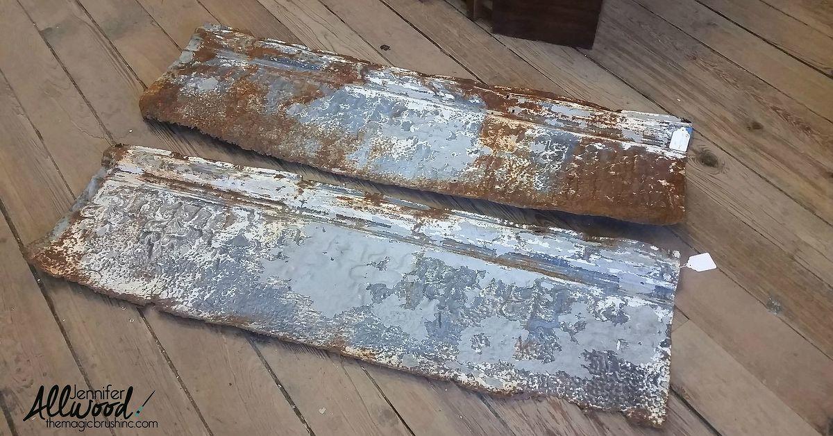 How To Turn Rusty Old Tin Panels Into A Beautiful Cornice
