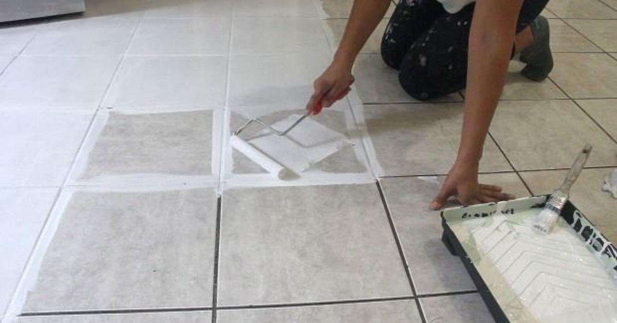 How Stencil Tile Floor The Secret Out Hometalk