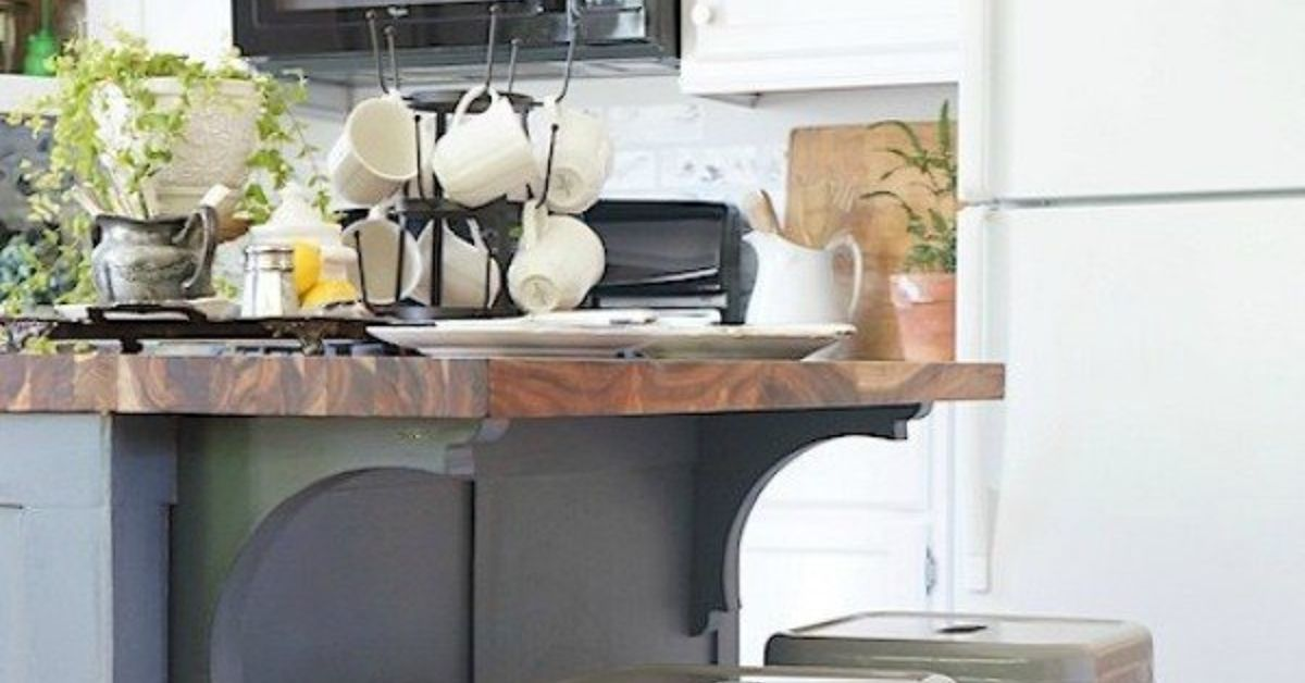 How To Update A Builder Grade Kitchen Island With Trim And