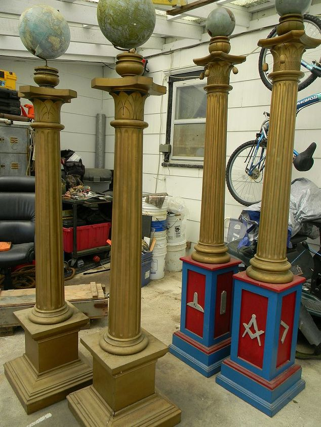 Before, these are the original two sets of columns from the Masonic Hall.