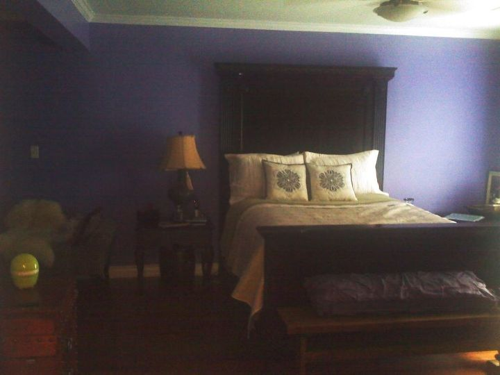 one side of the master bedroom