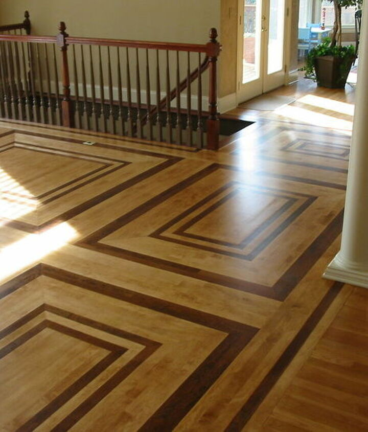 Maple mixed with American cherry, hardwood flooring.