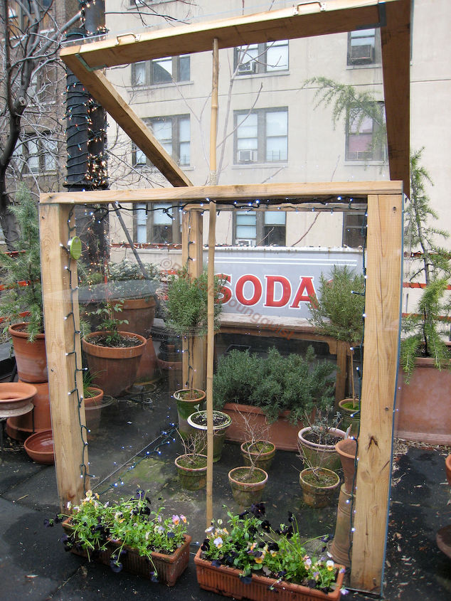 """Cold Frame Year One. Featured in """"I've never seen a billboard lovely as a tree"""" @ http://www.thelastleafgardener.com/2011/05/ive-never-seen-billboard-lovely-as-tree_14.html"""