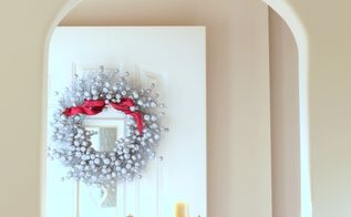 turn a fall clearance wreath into a christmas wreath, christmas decorations, crafts, seasonal holiday decor, From fall harvest to winter silvery frost