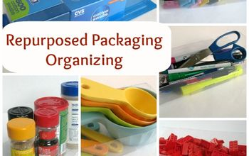 Use Repuposed Packaging to Organize Your Home