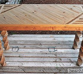 Entryway Table Made From Pallets And Fence Panels, Diy, How To, Painted  Furniture