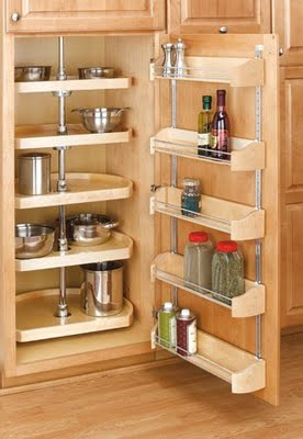 Add organization and storage capacity to your kitchen by installing accessories on the backs of doors: http://bit.ly/g0Folc