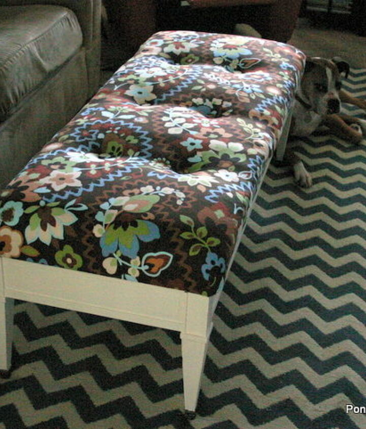 i turned a 1 coffee table into an ottoman, painted furniture