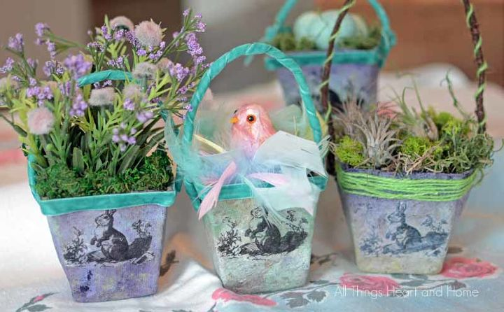 Now just fill your basket with something darling! Thanks so much for having a look at my tiny baskets friends~ Happy Spring! xo