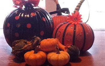 pumpkins pumpkins are everywhere, crafts, seasonal holiday decor, My Big polka dot pumpkin