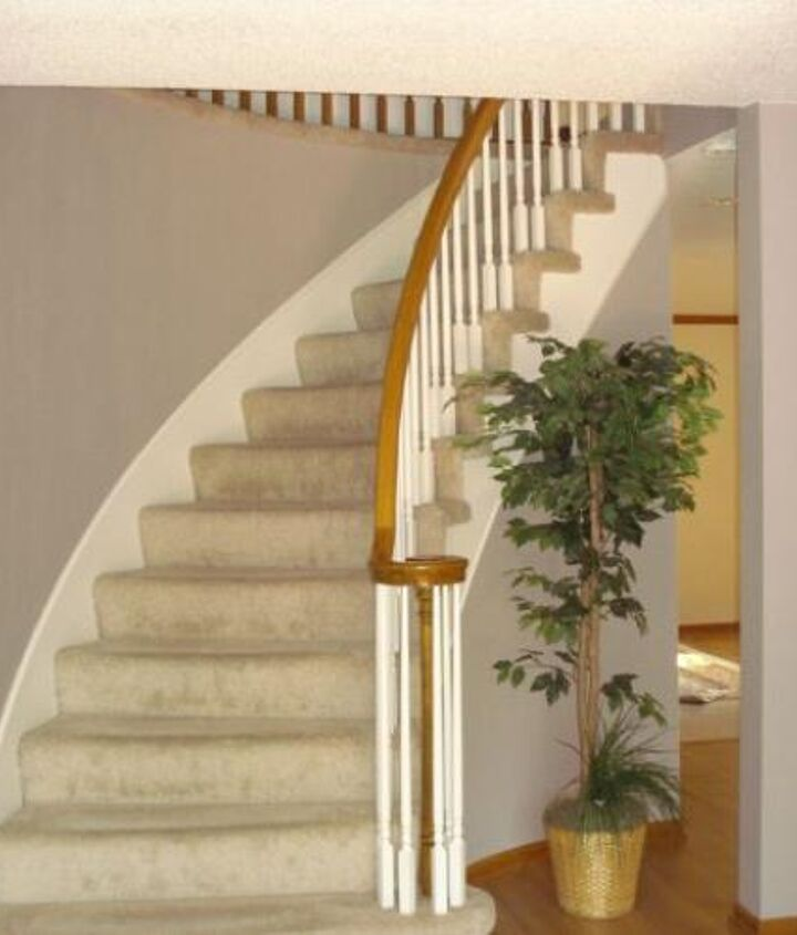 diy updating 80 s oak stairwell, painting, stairs