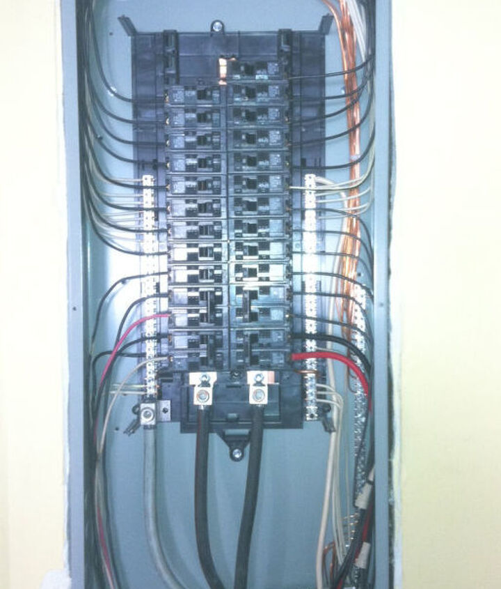 new panel we just installed safe and up to code....