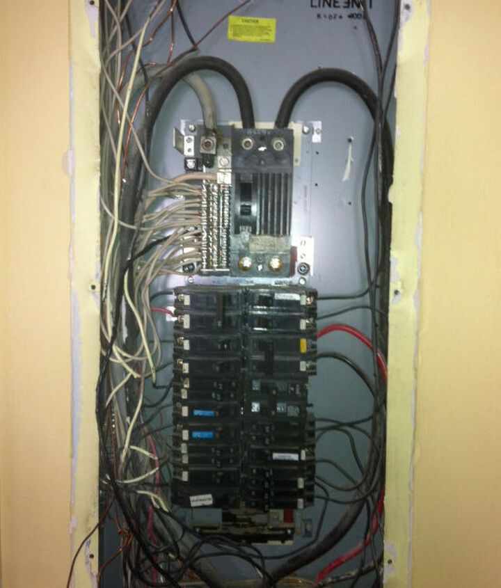 old panel we just removed....sloppy
