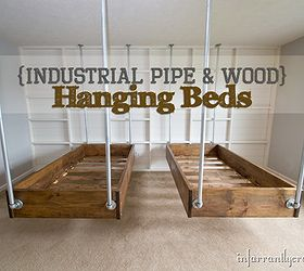 Industrial Wood And Pipe Hanging Beds, Bedroom Ideas, Diy, Painted  Furniture, Woodworking