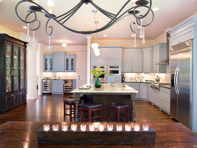 a new home kitchen that i designed in the hamilton mill area outside of atlanta, home decor, kitchen design, View from the nook area Photography BeezEyeViewPhotography com