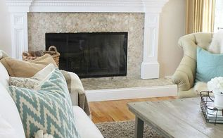 diy abstract art a coastal look for under 30, crafts, fireplaces mantels, home decor