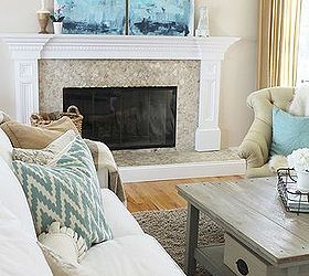 Diy Abstract Art A Coastal Look For Under 30, Crafts, Fireplaces Mantels,  Home