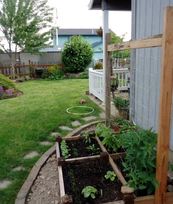 old bed frame repurposed as a raised garden bed, gardening, raised garden beds, repurposing upcycling, woodworking projects