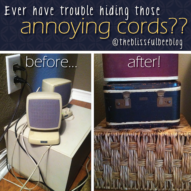 how to hide those annoying cords, cleaning tips, A creative way to hide cords