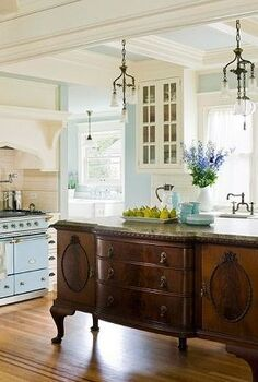 great ideas for your kitchen island, home decor, kitchen design, kitchen island, painted furniture, repurposing upcycling