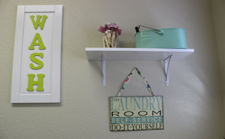 laundry room decor, home decor, laundry rooms, Some DIY and store purchases helped me to create a wall vignette in the laundry room