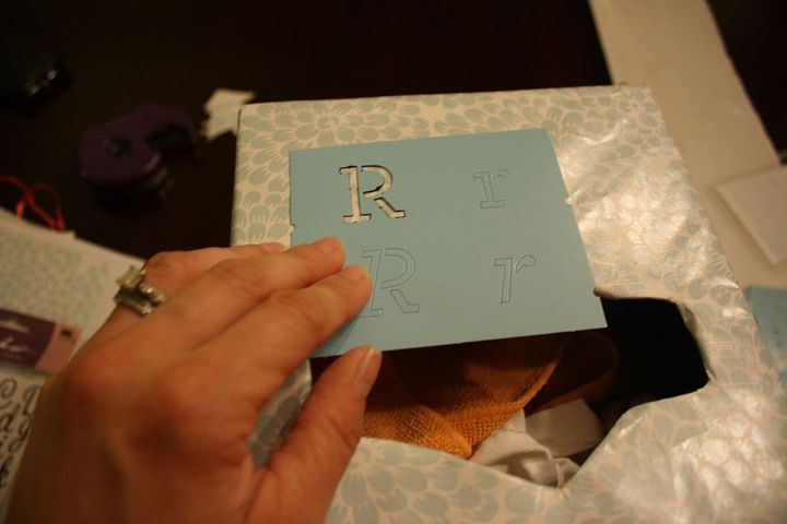 easy recycled storage for your rag stash, cleaning tips, repurposing upcycling, Stencil use a label maker paint a chalkboard label or otherwise give yourself a place to clearly mark what goes in the box
