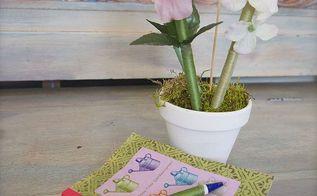 mother s day diy flower pot pens, crafts, Flower pot of pens
