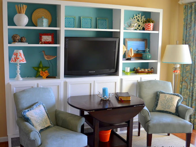 diy bookcases using kitchen cabinets as the base, home decor, painted furniture, DIY bookcases using kitchen cabinets as the base starting point
