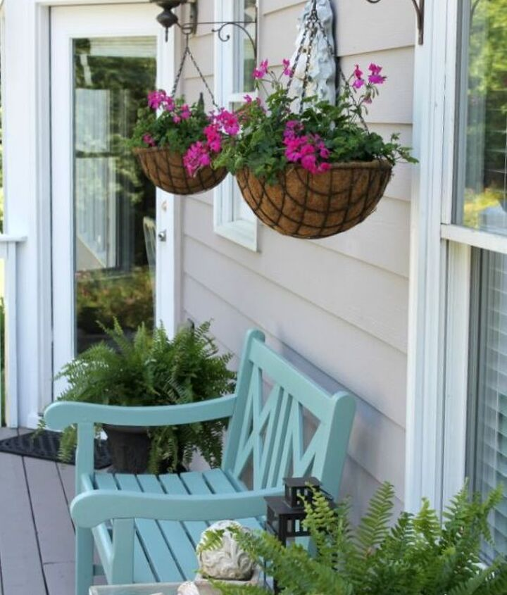 summer porch makeover, outdoor living, porches