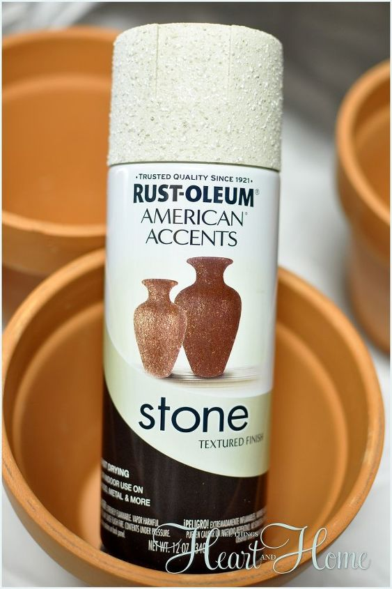 Stone Spray gives the terra cotta a wonderful texture-