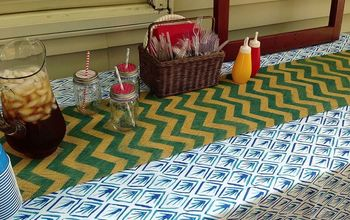 diy chevron burlap table runner, crafts, Wound up hating it with this tablecloth sometimes things just don t go as you imagine