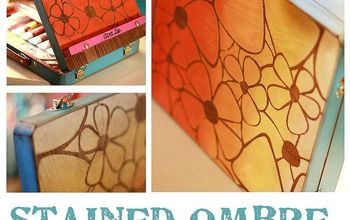 Stained Ombre Stencil Art