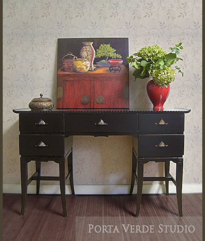 the pagoda desk makeover and other looks what s your preference, home decor, painted furniture