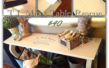 Broken TJ Maxx Table:  Transformed With Image Transfers & Paint