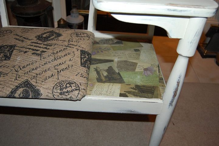 Before Amp After Makeover For Antique Gossip Bench Chair Painted Furniture Shabby Chic