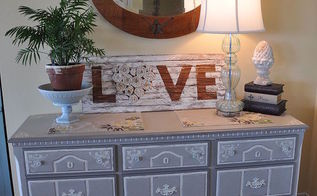 french country chic dresser, painted furniture