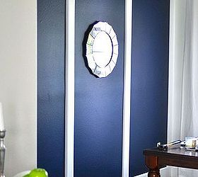 Going Bold Navy Blue Dining Room Accent Wall, Home Decor, Painting, Wall  Decor