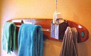 repurposed upcycled vintage water ski towel amp robe rack, bathroom ideas, repurposing upcycling, Repurposed Upcycled Vintage Water Ski Towel Robe Rack by GadgetSponge com